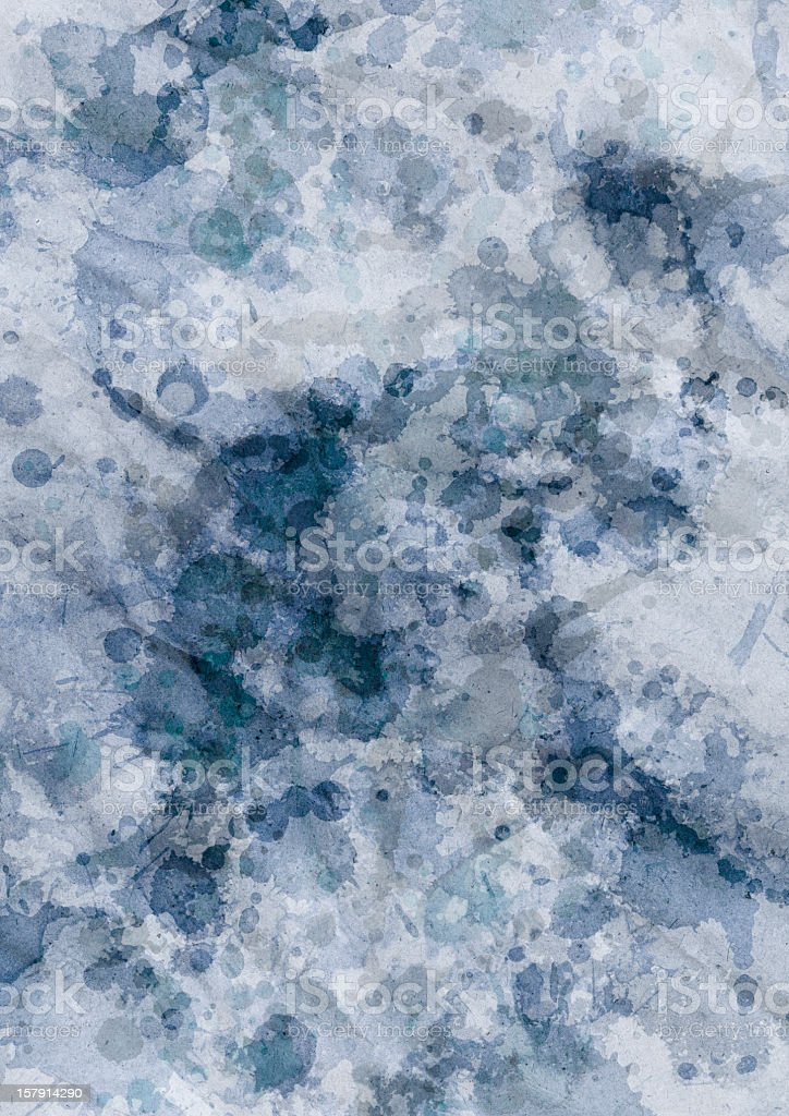 High Resolution Recycle Blue Wrapping Paper Blotted Mottled Grunge Texture royalty-free stock photo