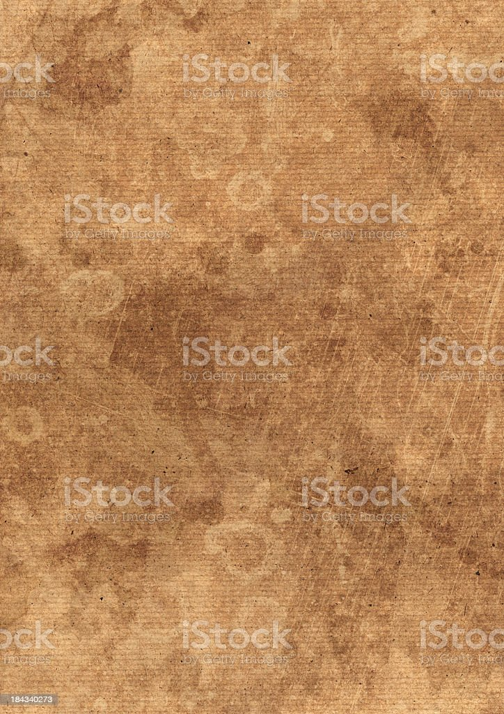 High Resolution Recycle Striped Brown Paper Blotted Mottled Grunge Texture royalty-free stock photo
