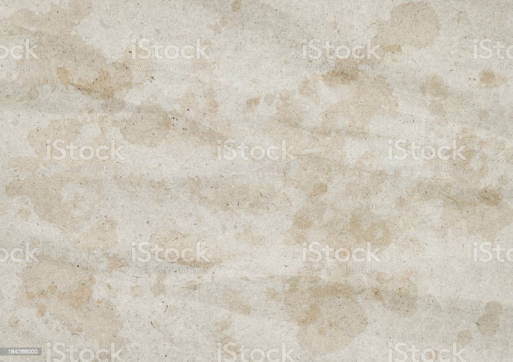 High Resolution Recycled Beige Wrapping Paper Crumpled Dappled Grunge Texture royalty-free stock photo