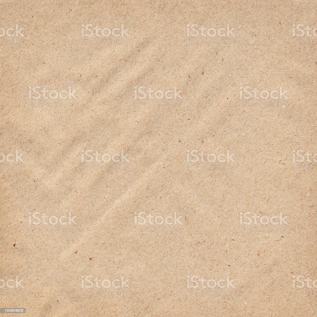 High Resolution Recycled Brown Kraft Wrapping Paper Grunge Texture stock photo