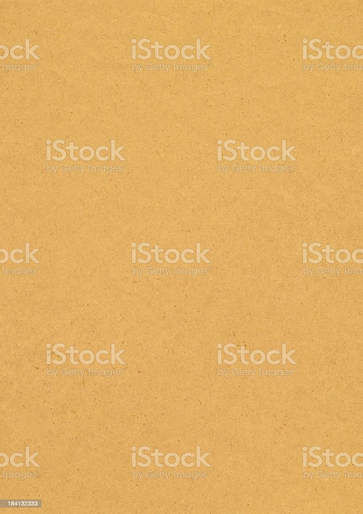 High Resolution Recycled Yellow Kraft Paper Grunge Texture royalty-free stock photo