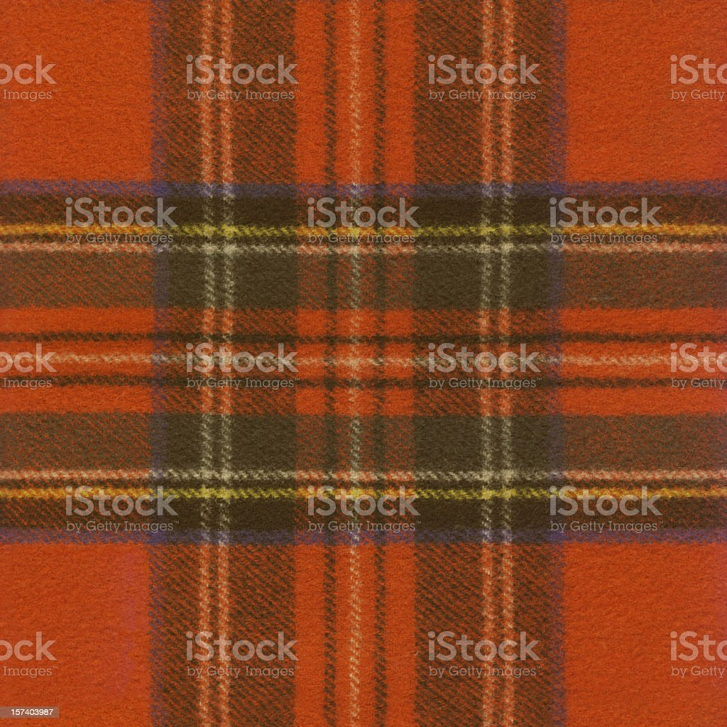 High Resolution Red Tartan Fabric Pattern Sample stock photo