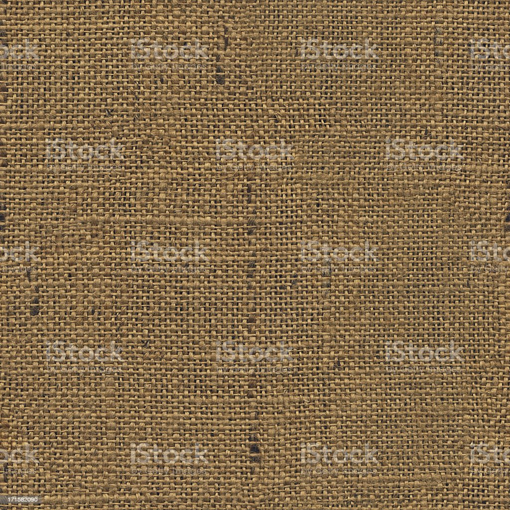 High Resolution Seamless Burlap Canvas Grunge Texture Tile royalty-free stock photo