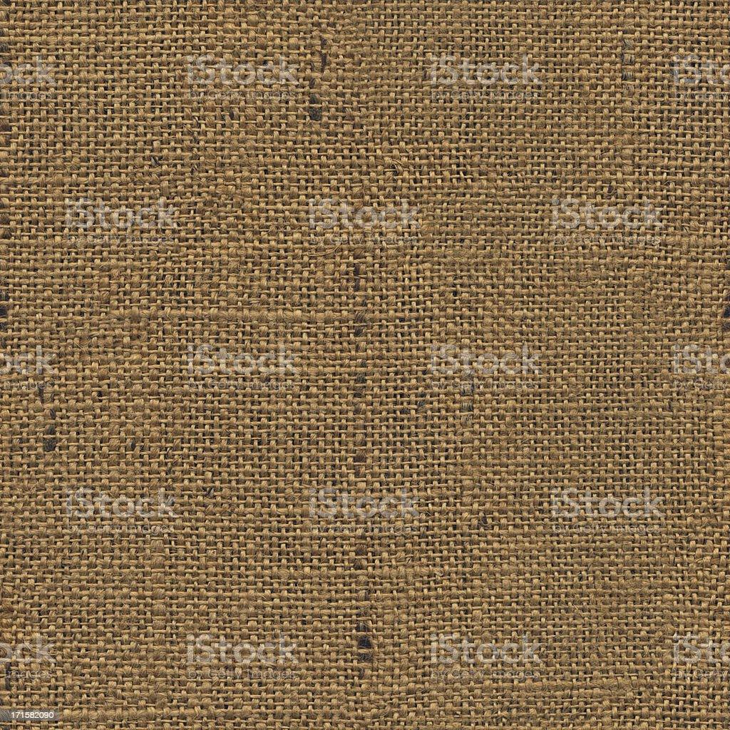High Resolution Seamless Burlap Canvas Grunge Texture Tile stock photo