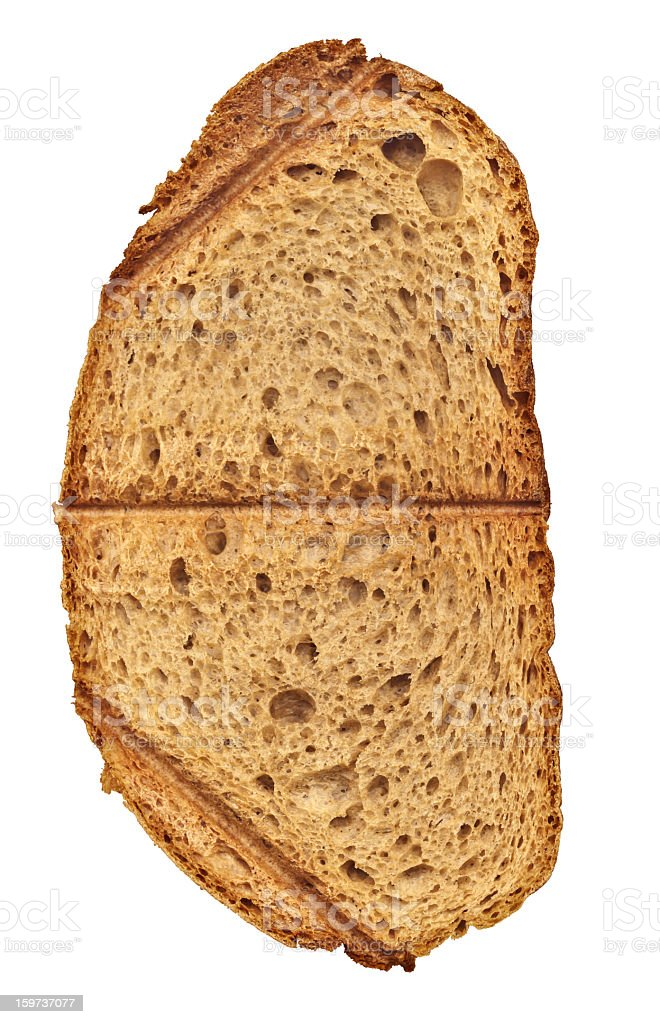 High Resolution Slice Of Toasted Bread Isolated On White Background royalty-free stock photo