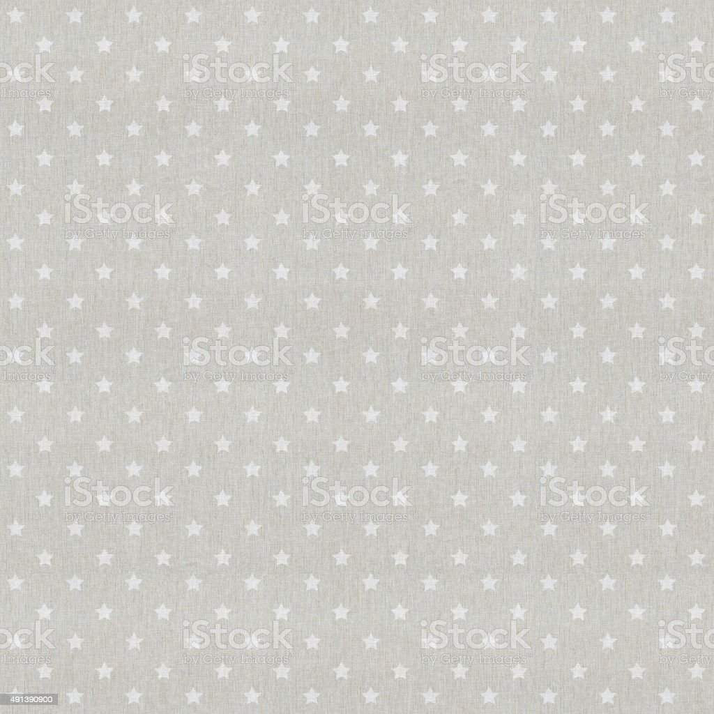 High resolution star patterned white textile stock photo