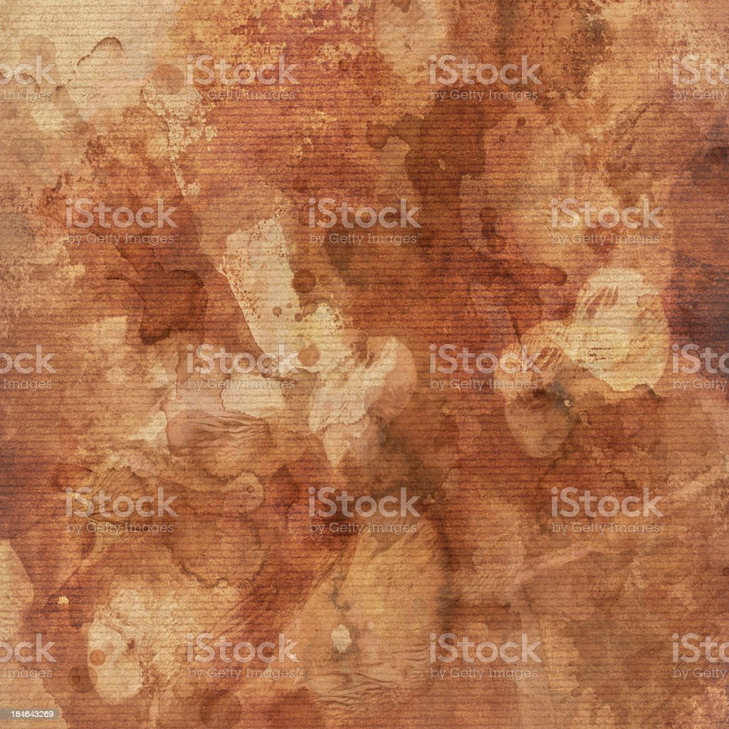 High Resolution Striped Brown Kraft Paper Blotted Dappled Grunge Texture royalty-free stock photo