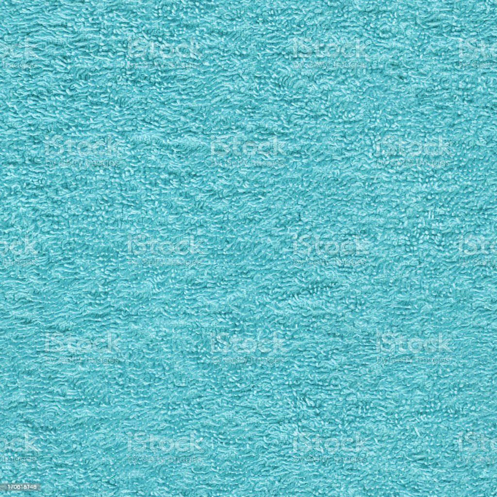 High Resolution Toweling Fabric Turquoise Seamless Texture Tile stock photo