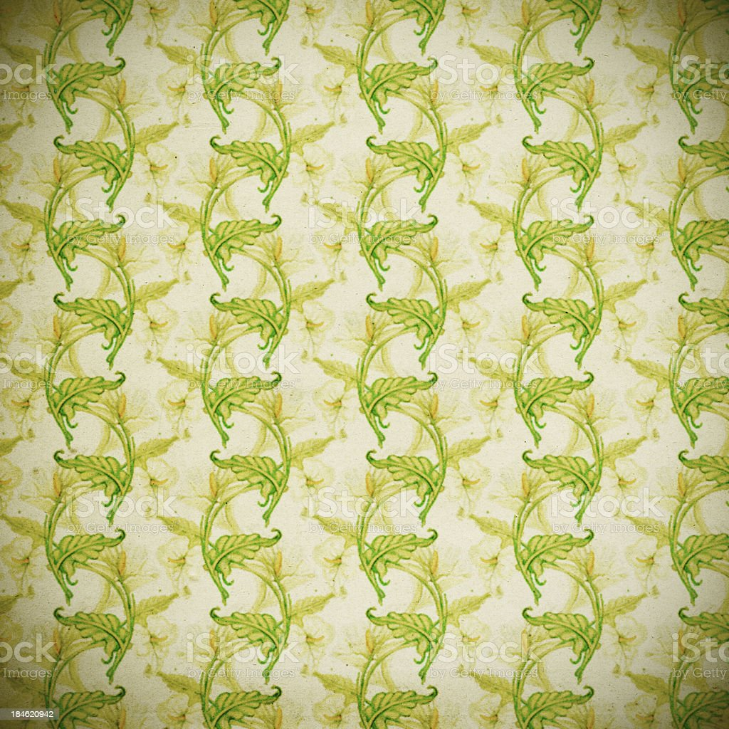 High Resolution Vintage Floral Wallpaper royalty-free stock photo