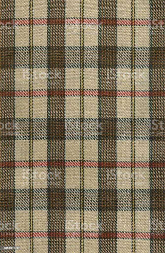 High resolution warm tone plaid fabric stock photo