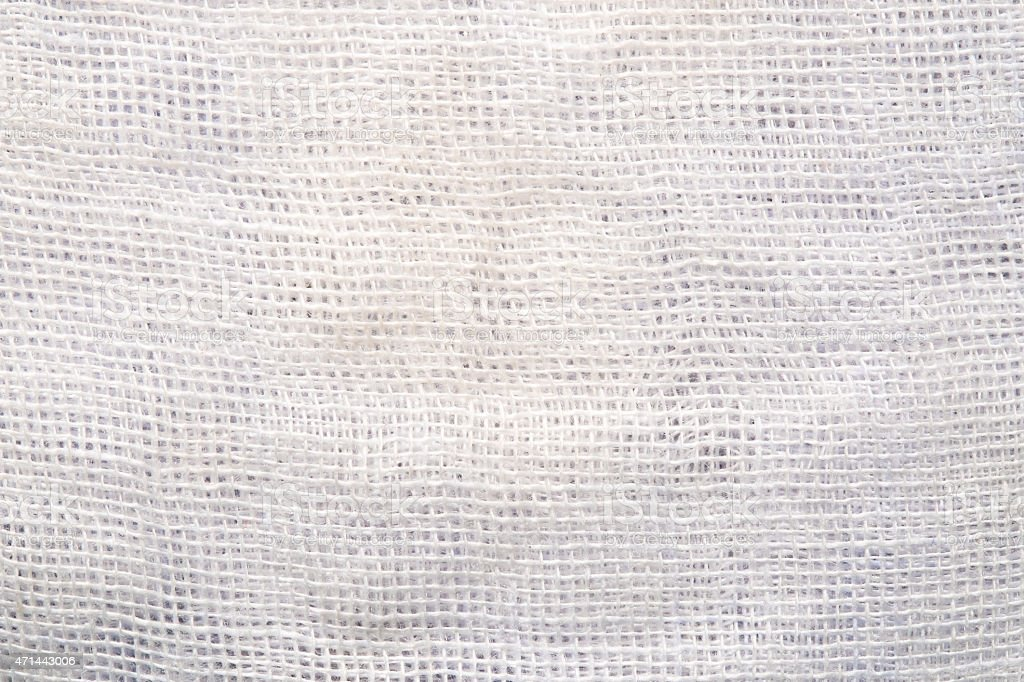 High resolution white and light gray texture of gauze background stock photo