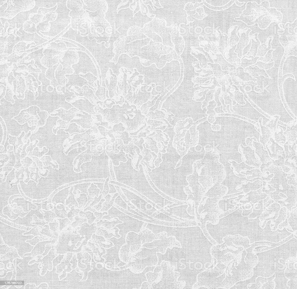 High Resolution White Fabric with Floral Pattern  for Backgrounds XXXL royalty-free stock photo