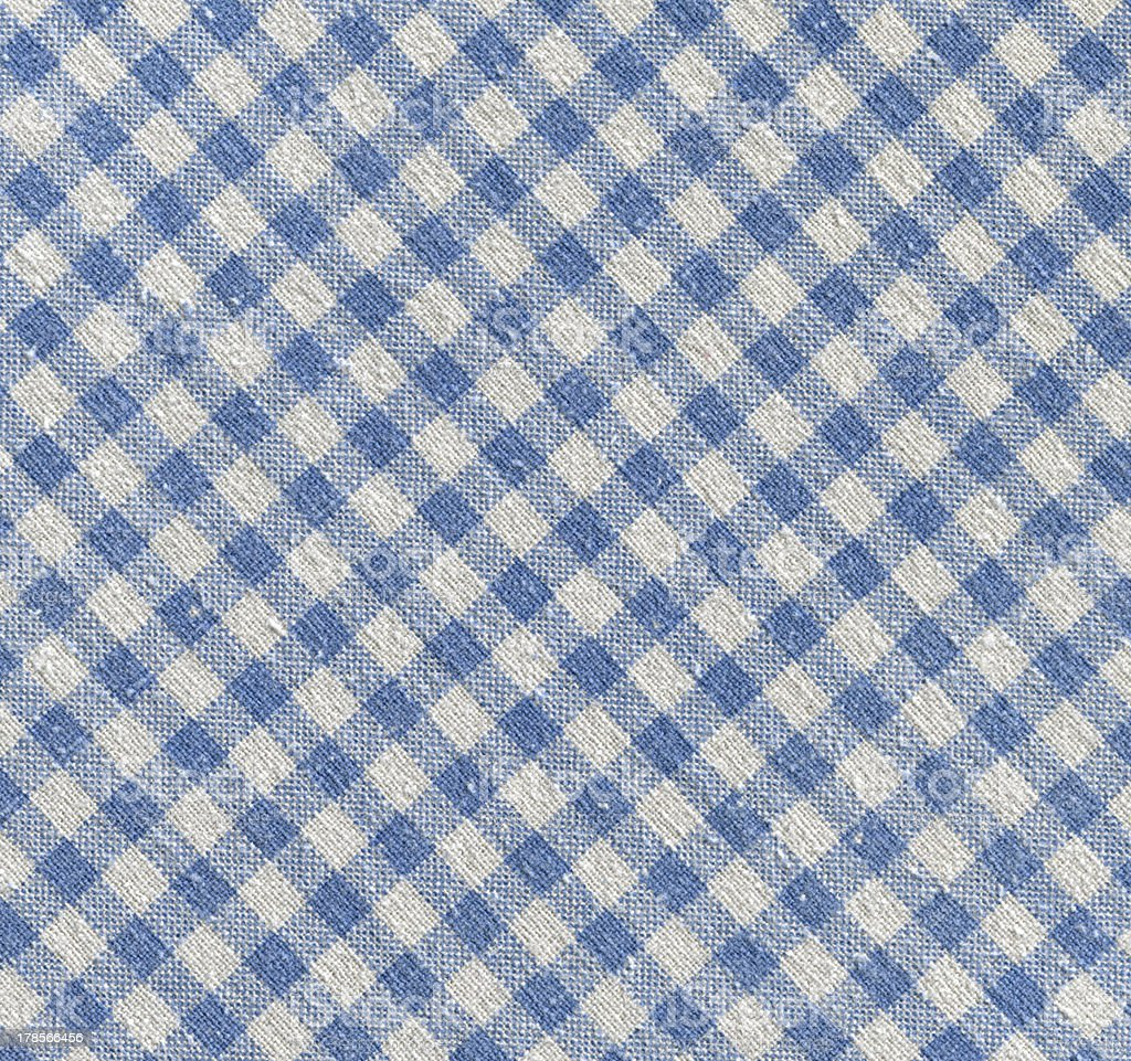 high resolution-tilt-blue and white gingham cloth texture background pattern(XXXL) stock photo