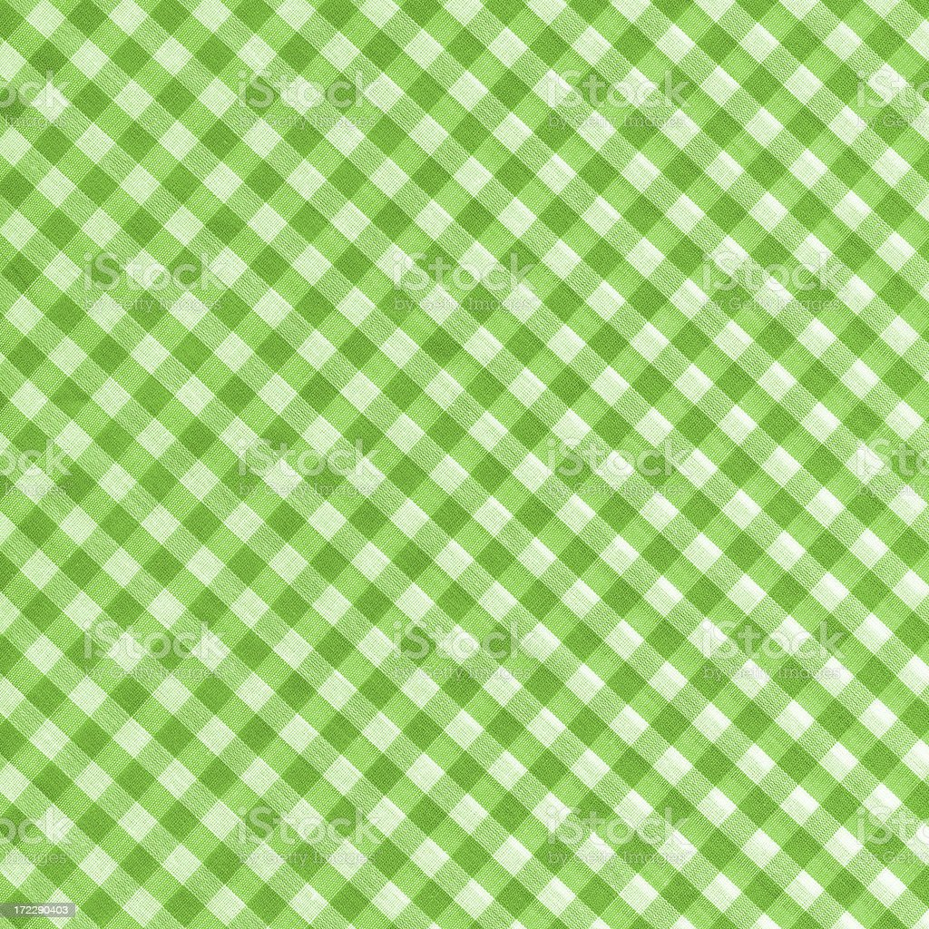 High resoluton green and white gingham pattern royalty-free stock photo