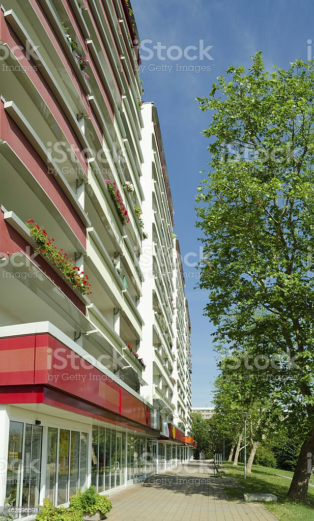 GDR high rise apartment building - Gera, Germany royalty-free stock photo