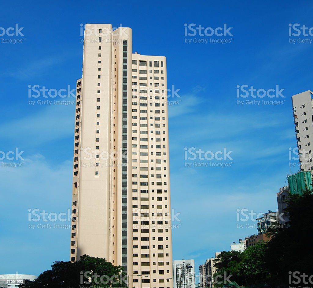 High rise apartment building in Hong Kong stock photo