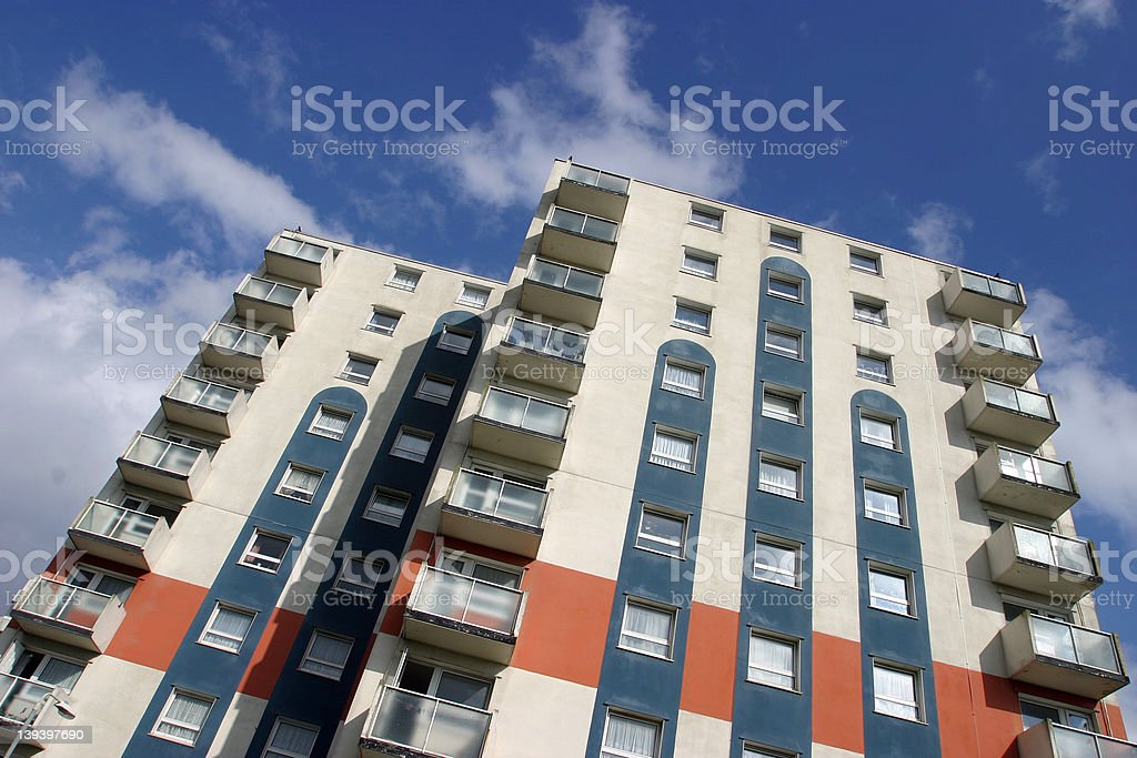 High Rise Apartments royalty-free stock photo