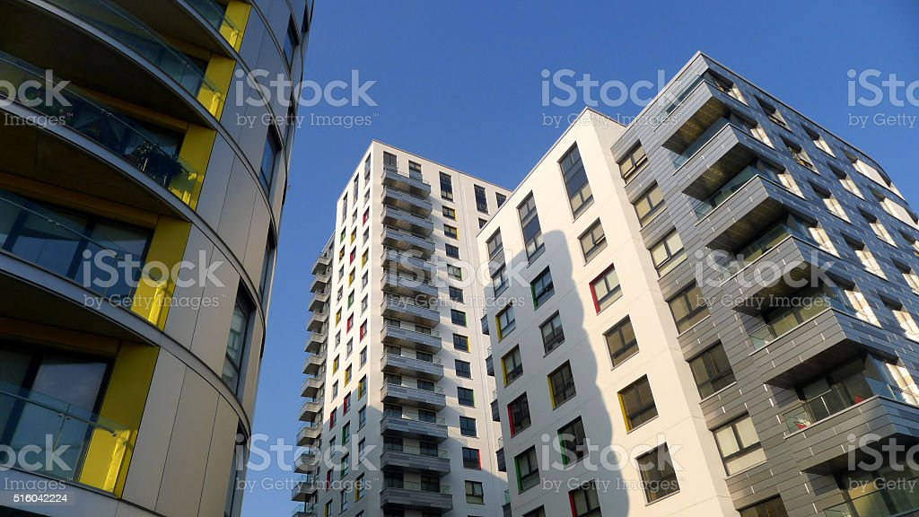 High Rise Apartments stock photo