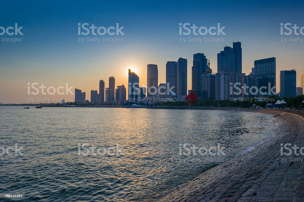 High rise building at qingdao olympic sailing center stock photo