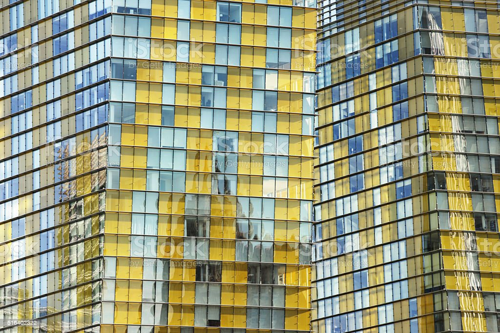 High Rise Building Facade Window Glass stock photo