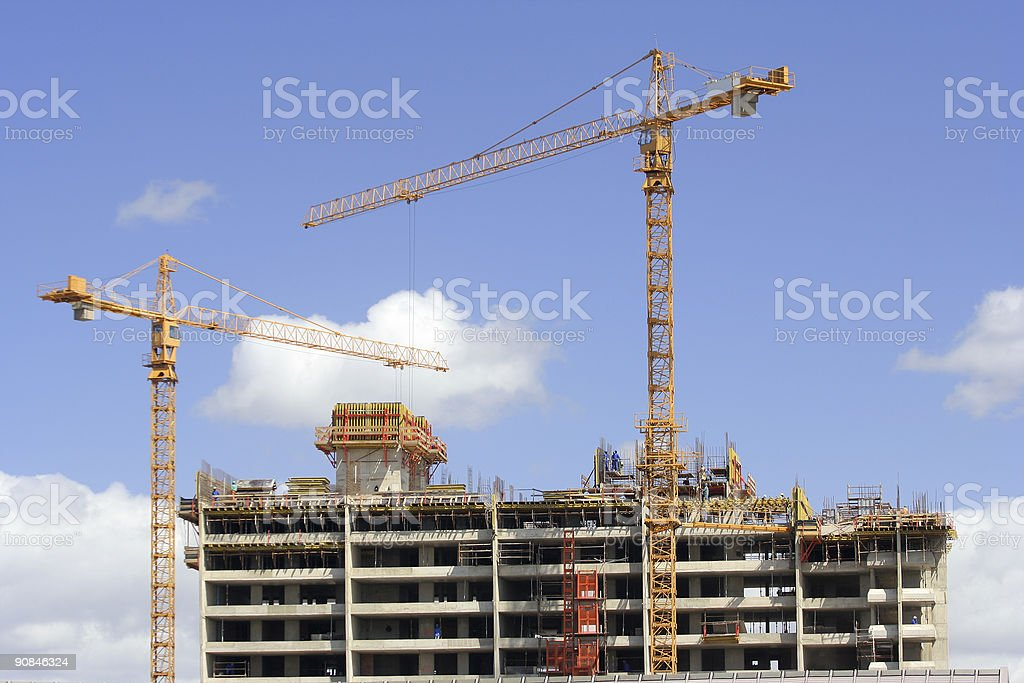 High Rise Building Site Landscape royalty-free stock photo