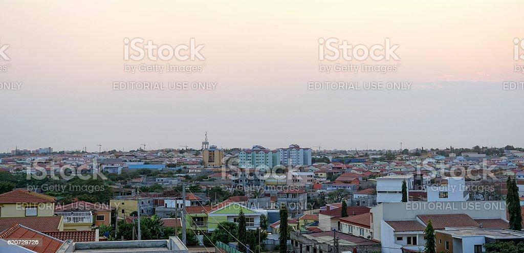 High rise buildings in Luanda, Angola stock photo