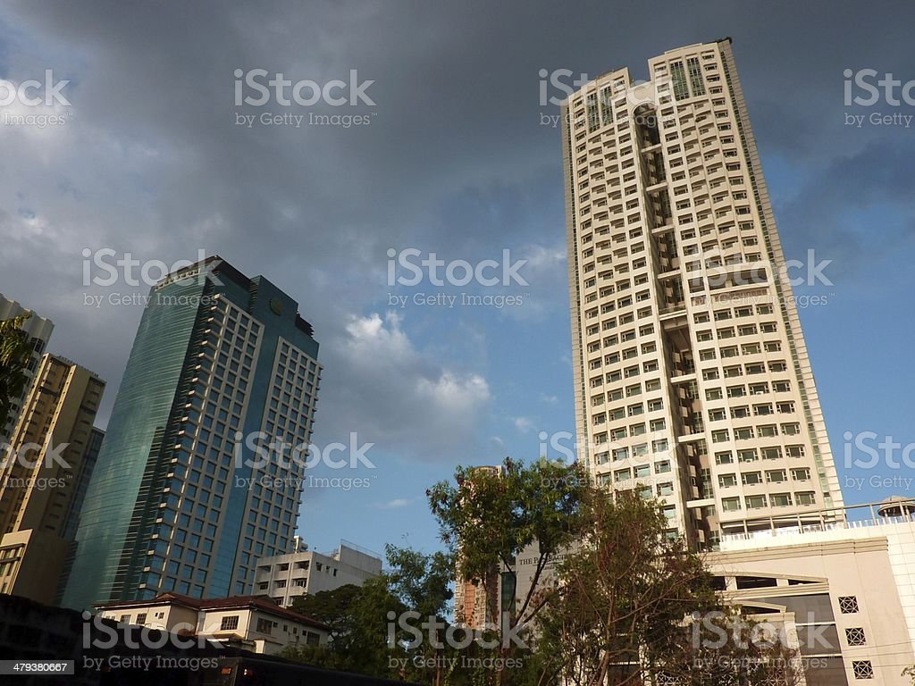 High rise buildings in Malate district, Manila Philippines stock photo