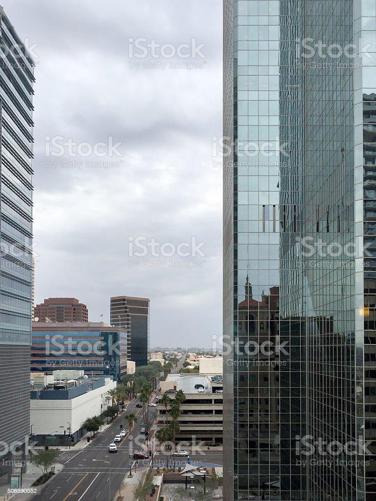 High rise buildings in Phoenix downtown, AZ stock photo