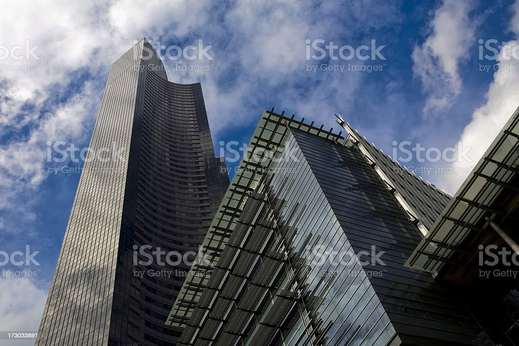 high rise buildings stock photo