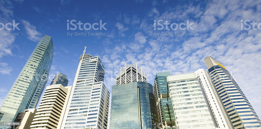 High rise buildings with cloudy sky royalty-free stock photo