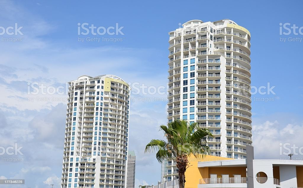 High rise condos in Tampa royalty-free stock photo