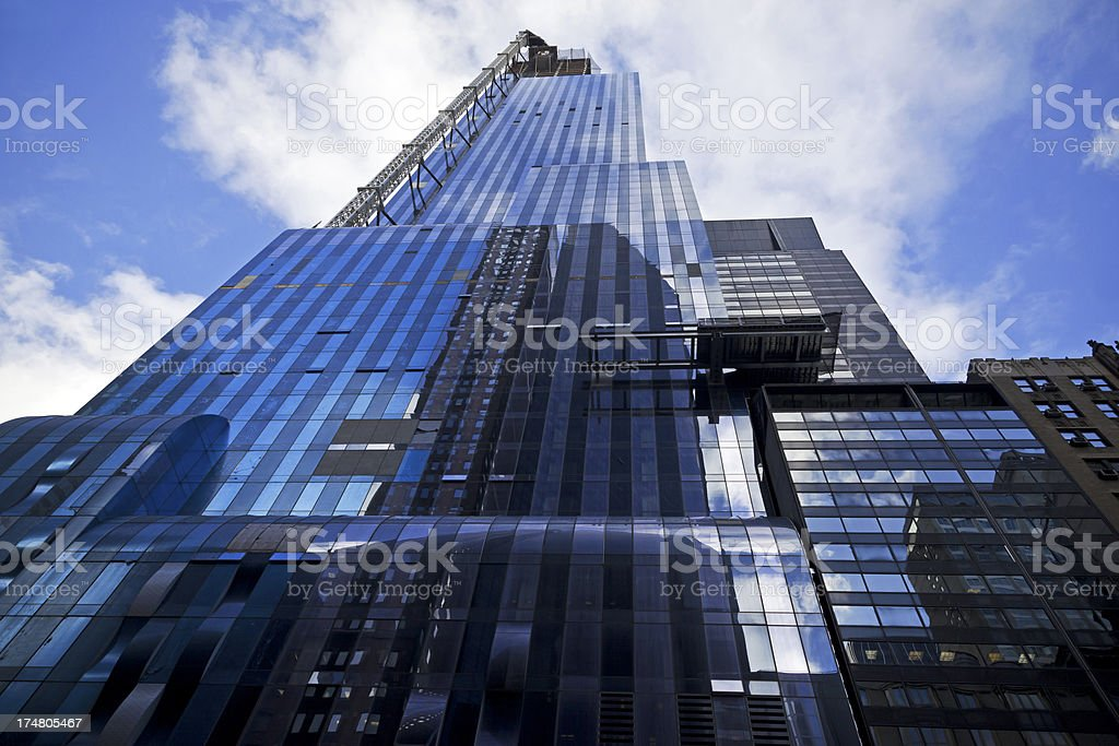 High rise construction NYC royalty-free stock photo