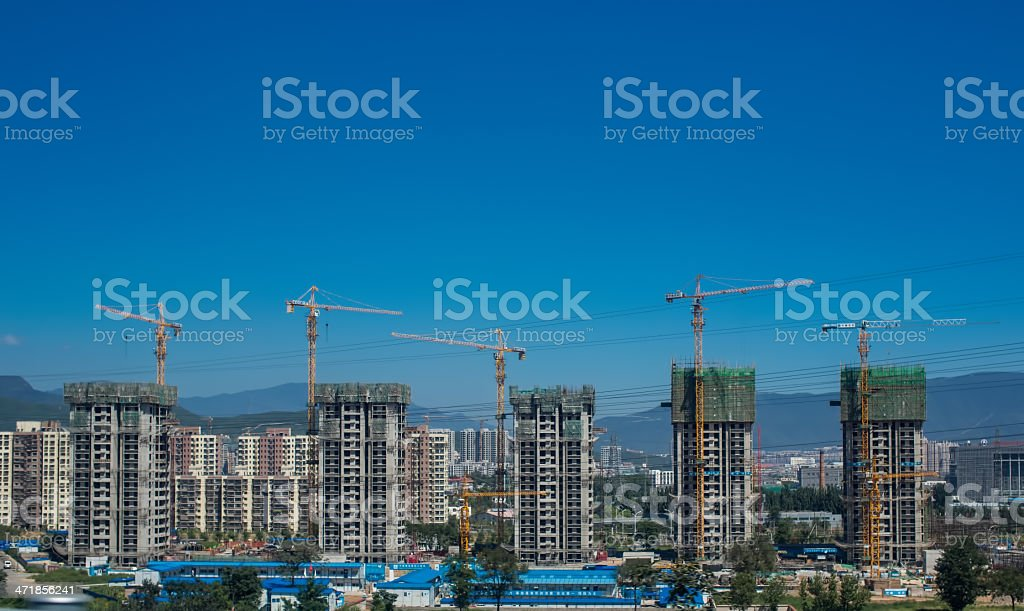 High rise construction stock photo