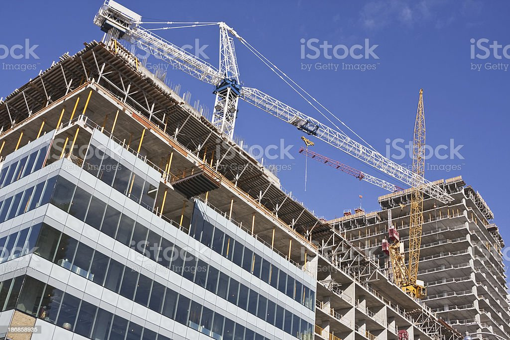 High rise construction site # 16 XL stock photo