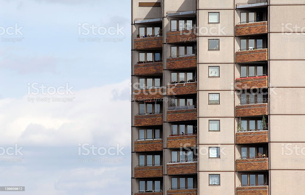 high rise in berlin stock photo