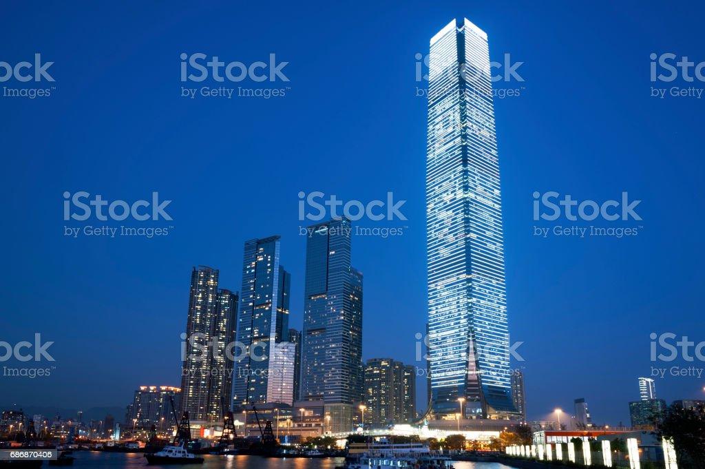 High rise modern office buiding stock photo