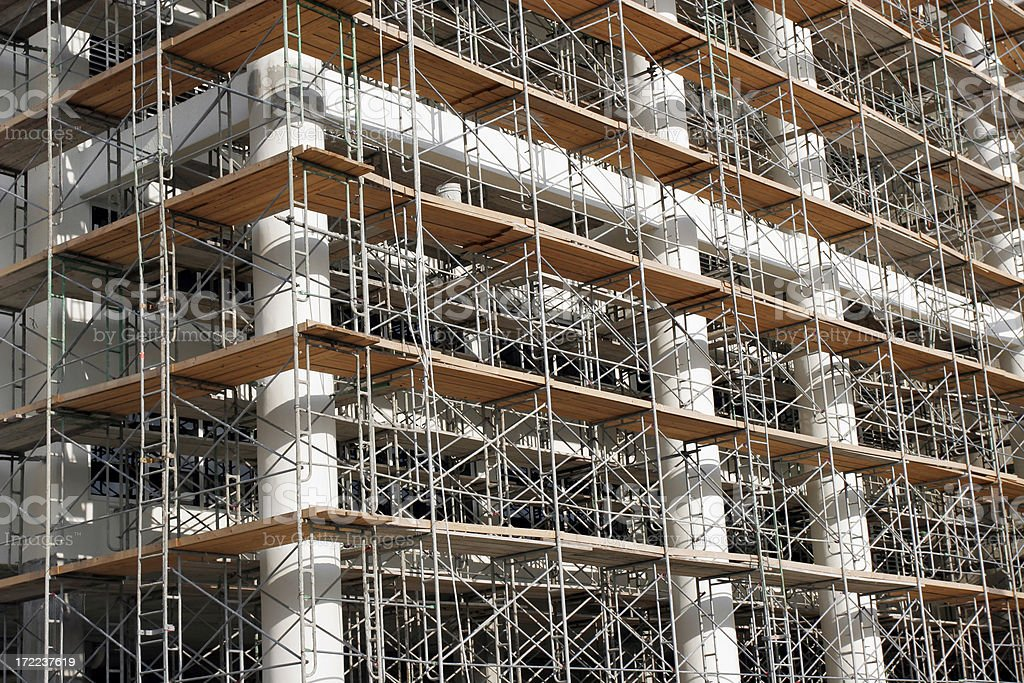 High Rise Scaffolding royalty-free stock photo