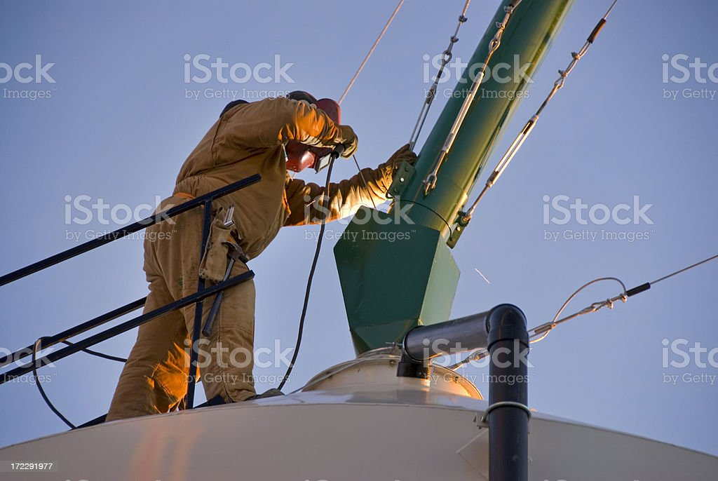 High rise welder royalty-free stock photo
