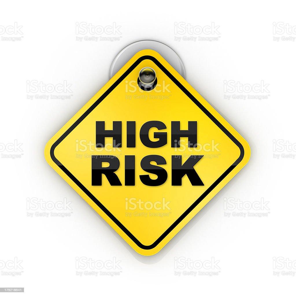High Risk Sticky warning stock photo