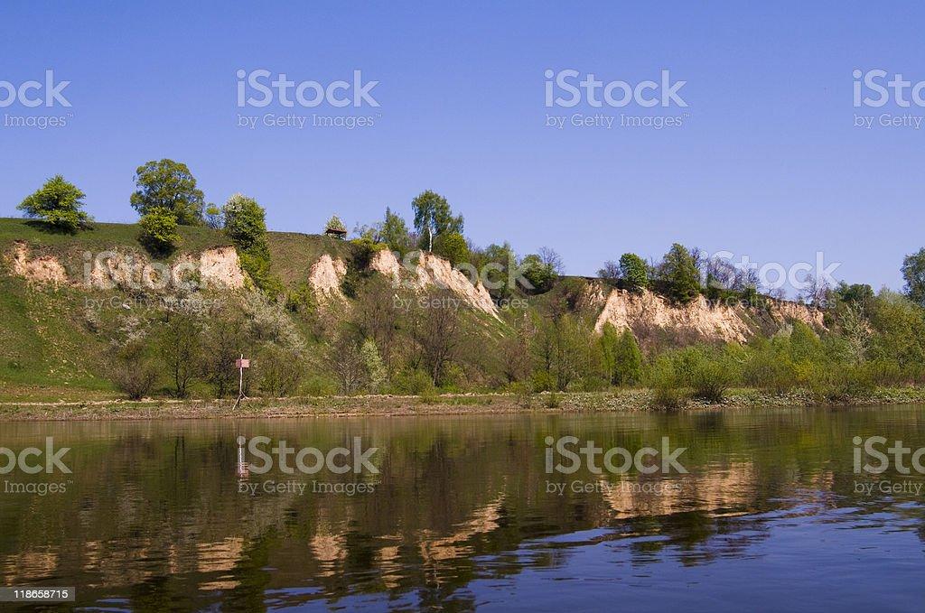 high river bank stock photo