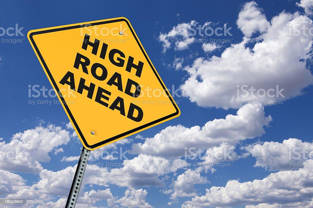 High Road Ahead royalty-free stock photo