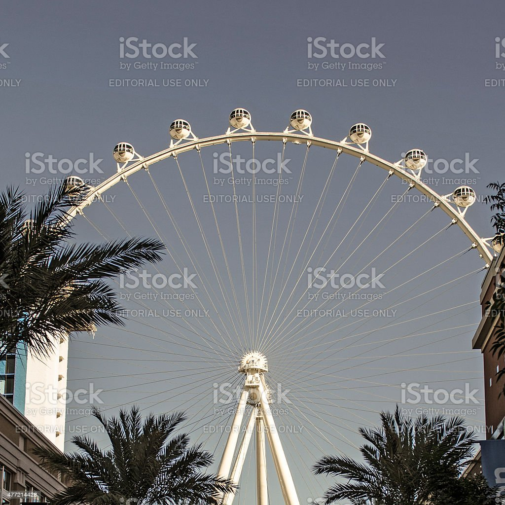 High Roller is a 550 ft tall giant Ferris wheel stock photo