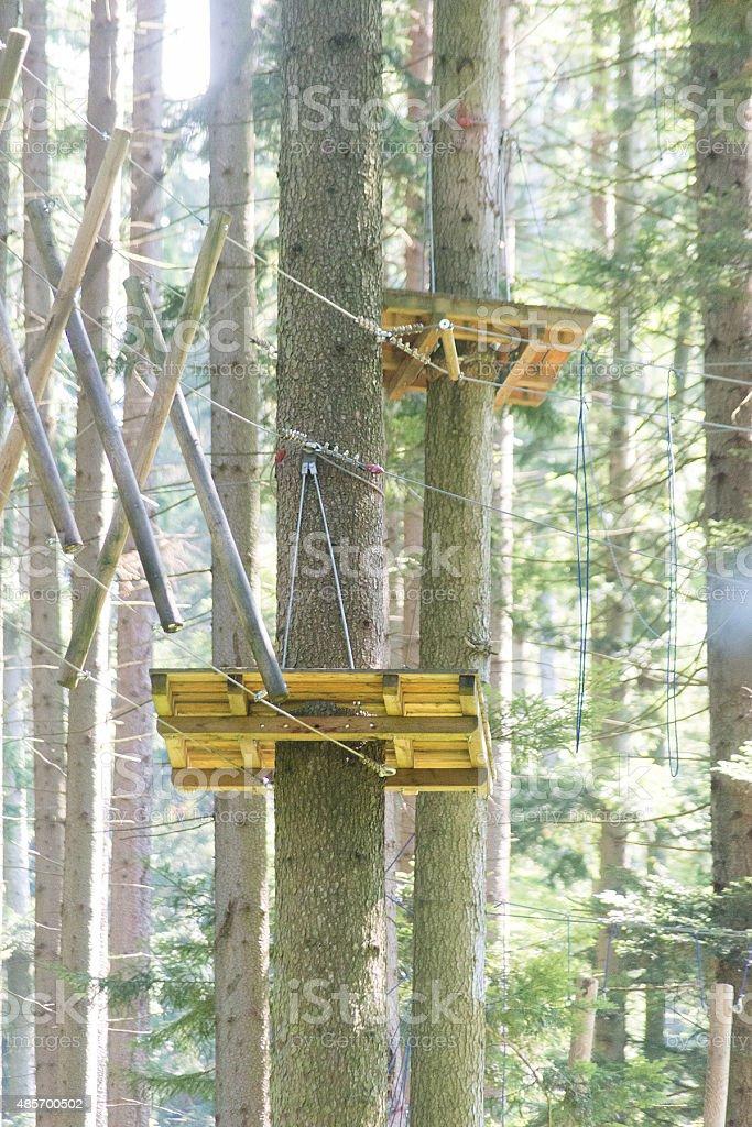 high ropes course - Klettergarten stock photo