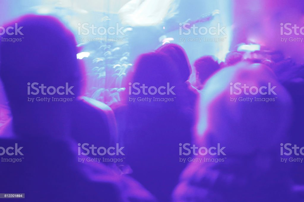 High saturated lighting in music concert stock photo