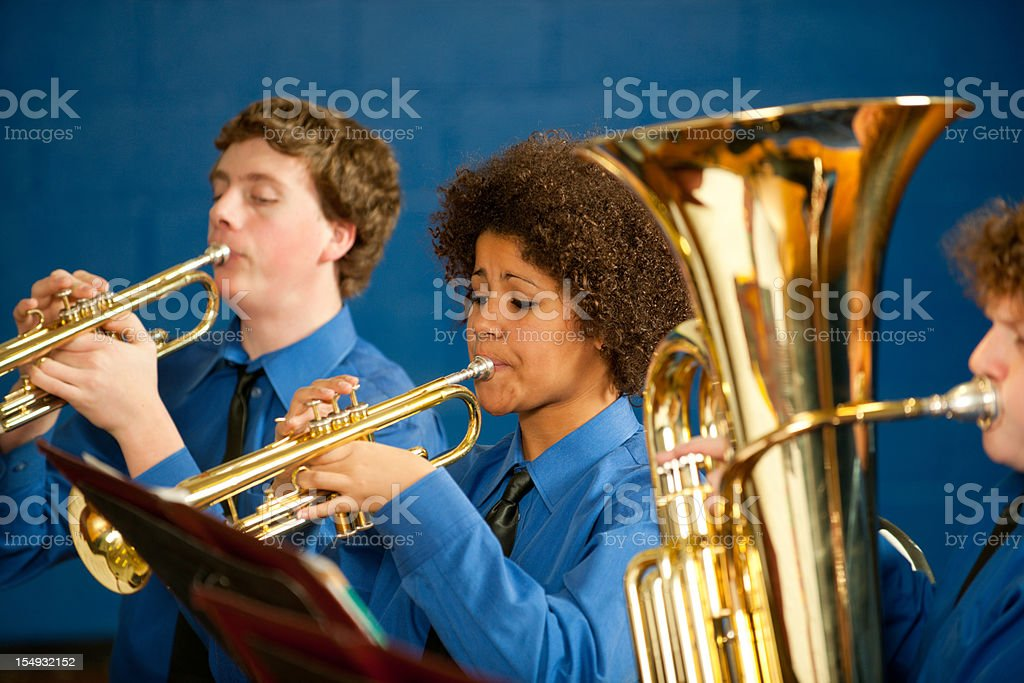 Highschool band stock photo