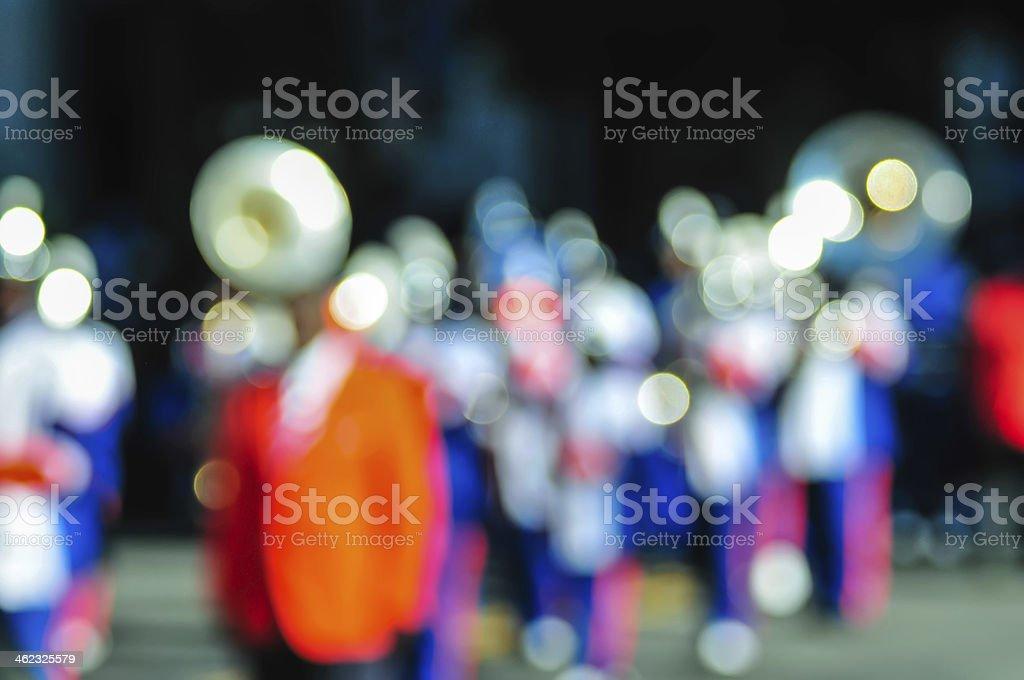 high school band tuba player stock photo