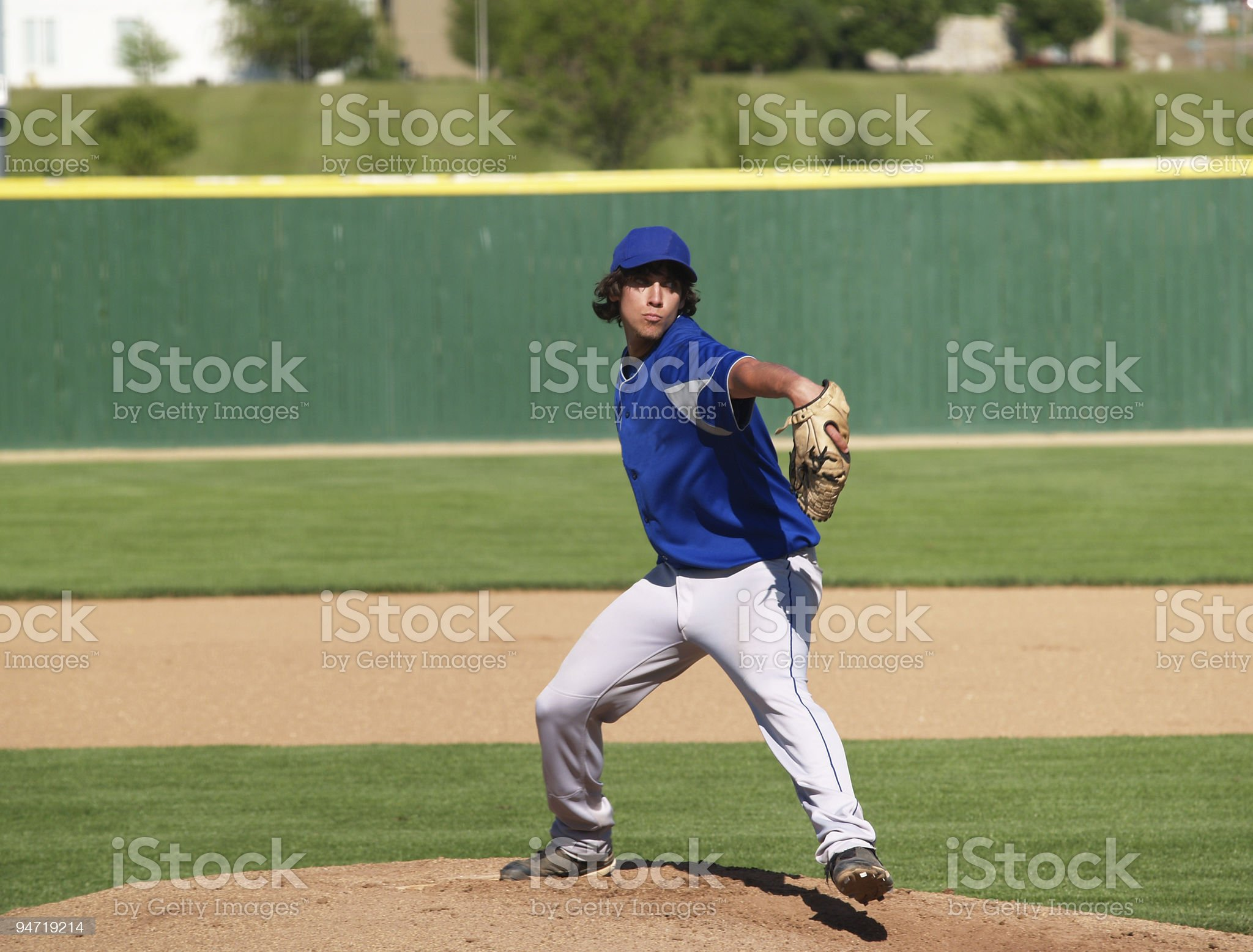 high school baseball pitcher royalty-free stock photo