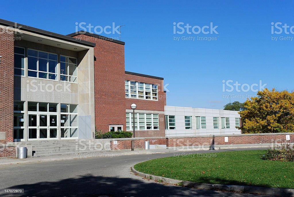 High school building stock photo