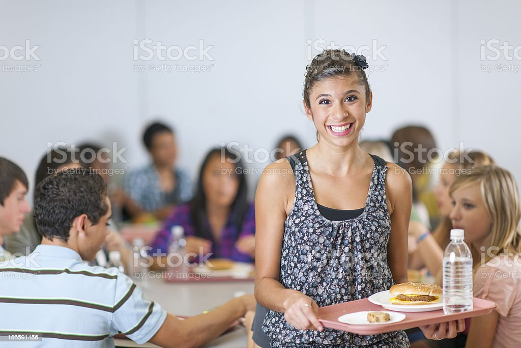 High School Cafeteria royalty-free stock photo