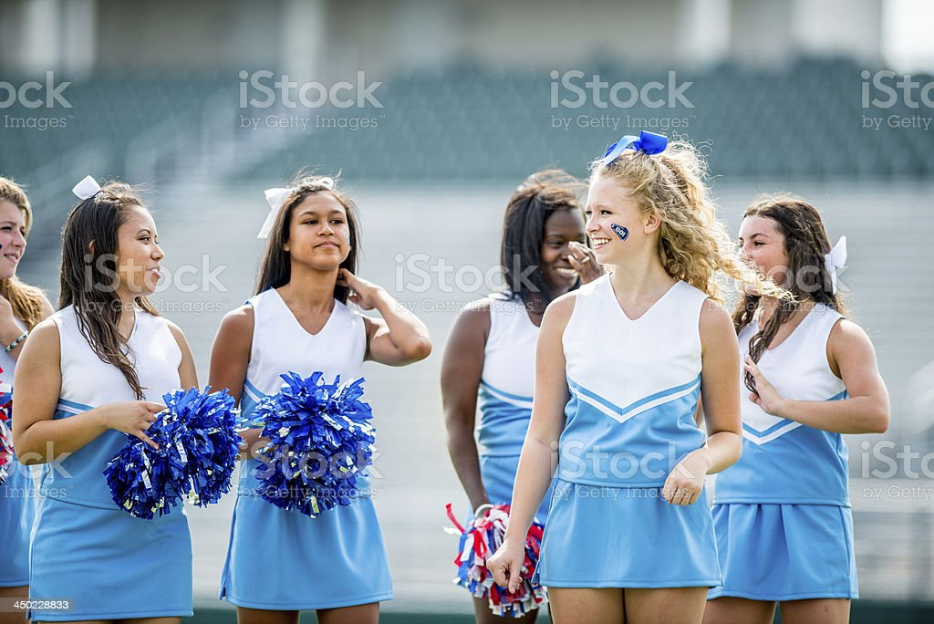High school cheerleaders stock photo